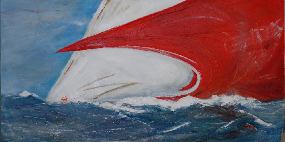 Frauke Klatt Bilder vom Segeln 80 x 140 cm