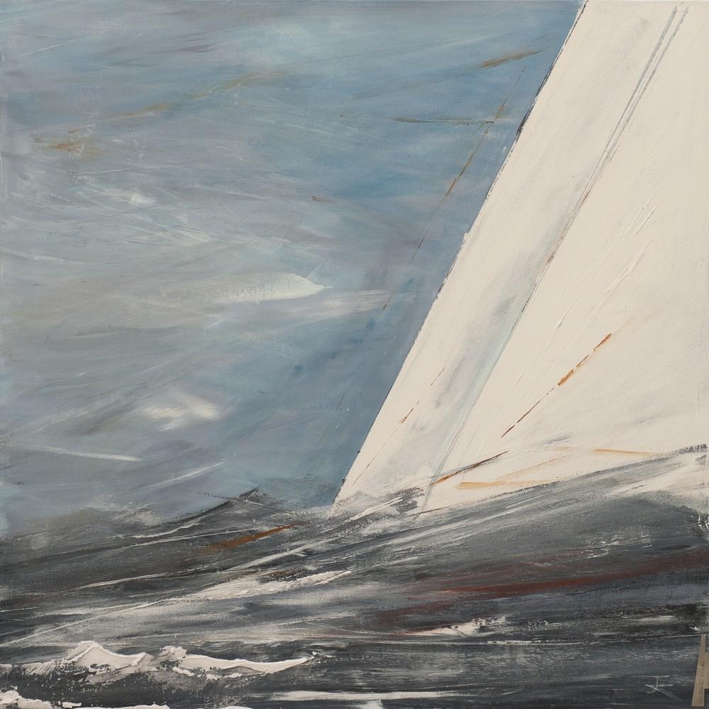 Frauke Klatt Bilder vom Segeln 100 x 100 cm