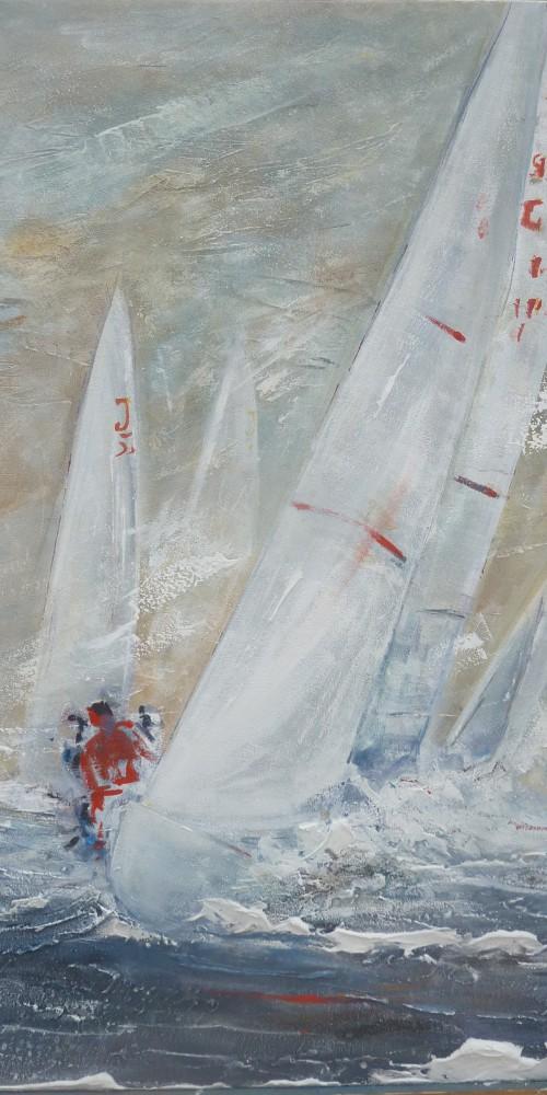 Frauke Klatt Bilder vom Segeln 100 x 70 cm