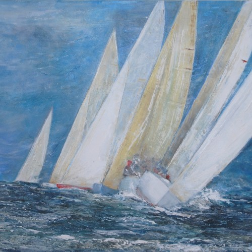 Frauke Klatt At the windward Mark 100 x 120